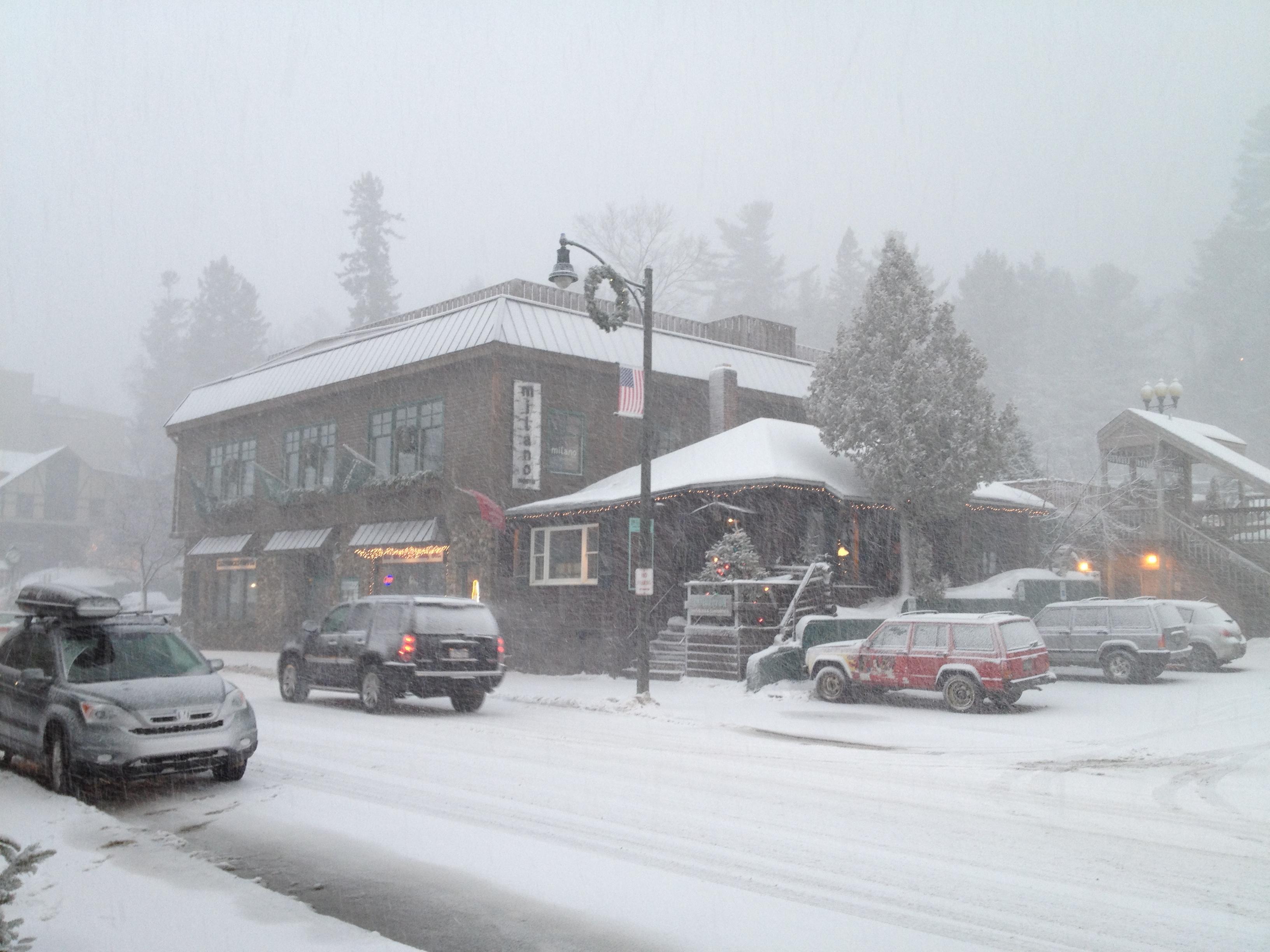 Snow Morning on Main St., Lake Placid