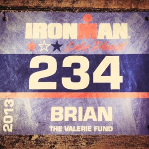 Ironman Lake Placid 2013 Bib #234