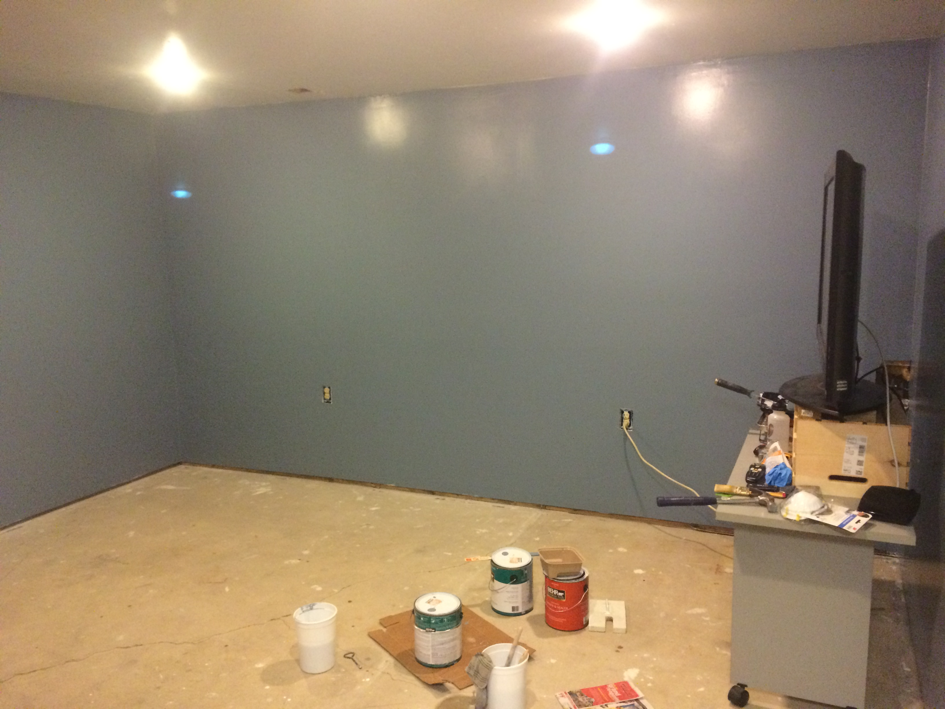 Pain Cave Remodel - Painted 1